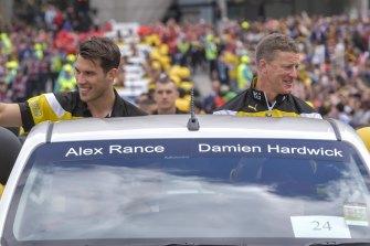 The door is ajar for Alex Rance, says Richmond coach Damien Hardwick.