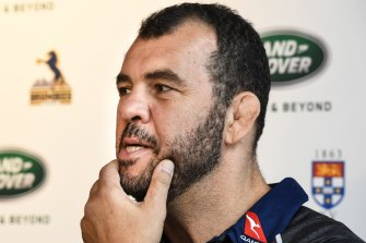 Blocked: The Kiwis aren't letting Michael Cheika have Samu for the Wallabies.