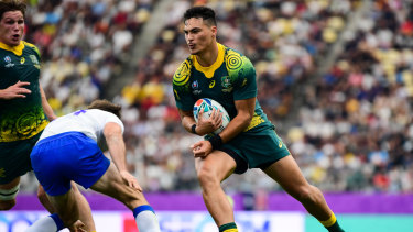 Jordan Petaia became Australia youngest debutant at a Rugby World Cup.