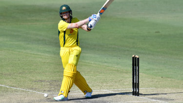 Steve Smith in action with the bat on Wednesday.