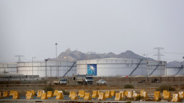 Aramco storage tanks  in Jiddah, Saudi Arabia. Modern technology has made energy installations particularly vulnerable.