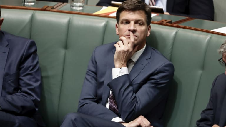 """""""I will allow nothing to get between me and bringing down prices"""": New Energy Minister Angus Taylor."""
