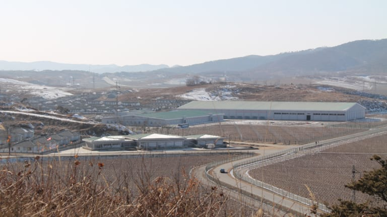 The collective farm outside Pyongyang.
