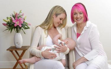 Pinky McKay (right) is the founder of Boobie Bikkies.