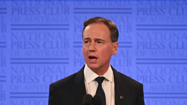 "Health Minister Greg Hunt makes it clear the government ""supports the model of pharmacists owing pharmacies""."