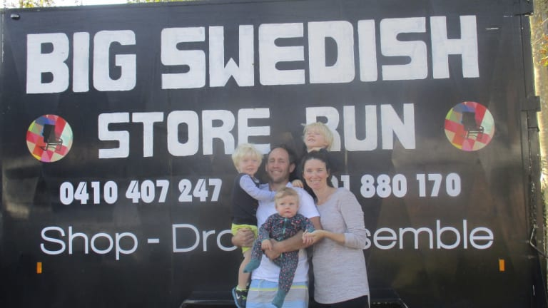 The Big Swedish store run founders Luke and Sarah Pastyn and family.