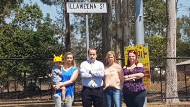 Nycoll Szombathy, Duncan Pegg, Louise Nann and Donna Longworth on Illaweena Street