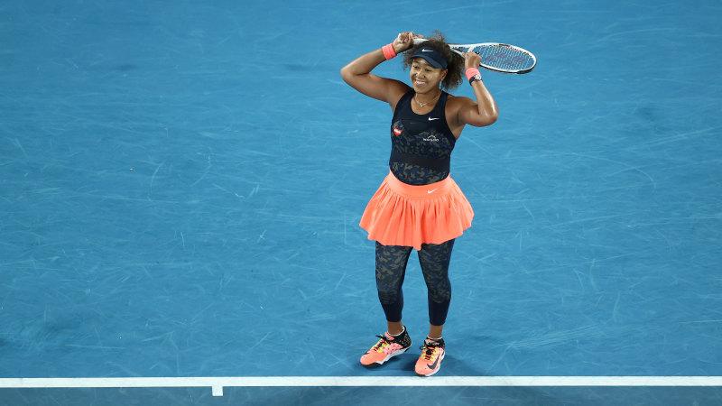 Image result for Naomi Osaka beats Jennifer Brady at Australian open to claim 4th Major Title