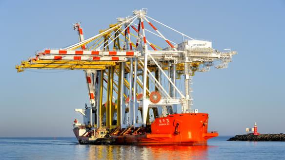 Holy ship: Heavy carrier arrives at Fremantle Port for crane delivery