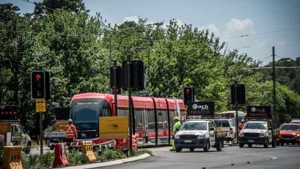 Light rail on the way to Civic, but testing to go on for weeks