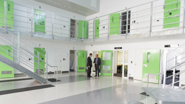 Minister for Corrections Shane Rattenbury opening the new Accommodation Unit at AMC in 2016, marking the completion of the prison's expansion.