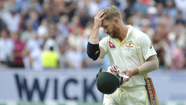 Hardly troubled the scorer: David Warner was disappointed with another cheap exit.