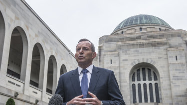 Former prime minister Tony Abbott could join the board of the Australian War Memorial.