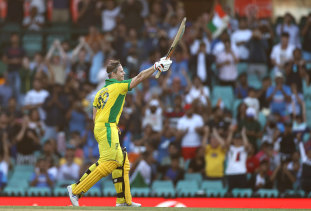 Steve Smith salutes the crowd after another century.