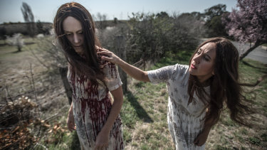 Their favourite horror movies? 'Poltergeist' for Langenberg (left) and 'The Conjuring' for Hundertmark.