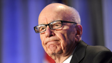 Rupert Murdoch was asked about climate change and James Murdoch leaving the News Corp board.