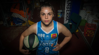 Abby Cubillo will get a chance to celebrate her heritage during the Canberra Capitals indigenous round game against the Perth Lynx.