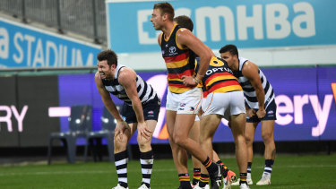 Home truths: Patrick Dangerfield at Geelong's home ground.