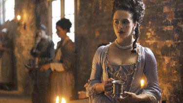 Jessica Brown-Findlay portrays Charlotte Wells, an 18th-century prostitute in drama series Harlots.