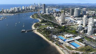 The Gold Coast Aquatic Centre at Southport on the Gold Coast.