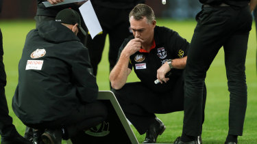 Down at heel: St Kilda coach Alan Richardson remains under sustained pressure to keep his job.