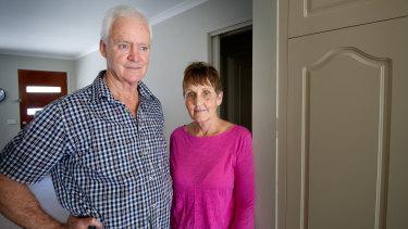Jim and Deb Barker, from Mildura, were victims of fraudsters Bill Jordanou and Robert Zaia.