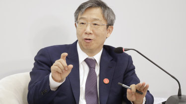 Yi Gang, governor of the People's Bank of China (PBOC) detailed a timeline for the opening up of the country's financial services.