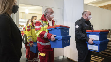 Medical staff discovered temperatures in the storage boxes had risen above the 8 degree maximum considered safe for transporting the Pfizer vaccine.