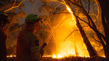 Rain may bring some relief for firefighters, but it may also present dangers including tree falls and landslips.