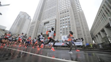 Thousands of runners make the trip to Tokyo for the marathon every year, but the non-professional event has been cancelled.