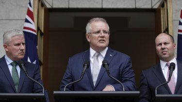 Scott Morrison announces $2 billion for the fire relief effort in Canberra on Monday.