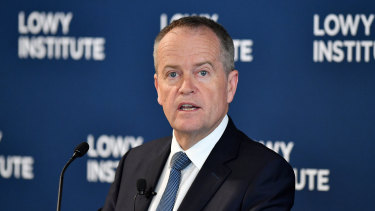 Bill Shorten at the Lowy Institute in Sydney.