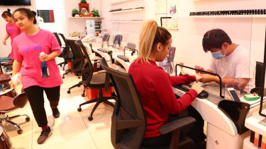 Jade Nail in Surfers Paradise was also open for business.