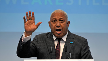 Fiji Prime Minister Frank Bainimarama has positioned himself as a global advocate on climate change.