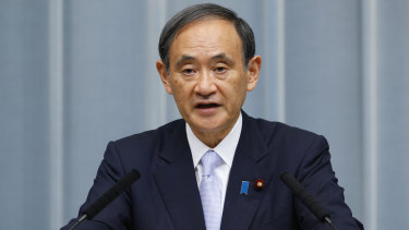 Chief Cabinet Secretary Yoshihide Suga discussed the case of the detained Japanese citizen.