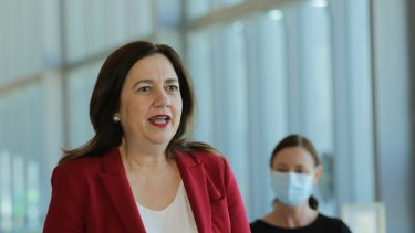 Queensland Premier Annastacia Palaszczuk gives the state's COVID update.