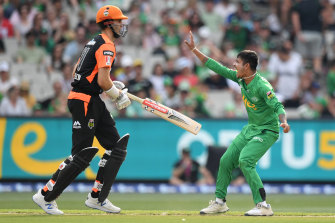 Sandeep Lamichhane (left) has revealed he has COVID-19, just two weeks before he joins the Hurricanes for the Big Bash.