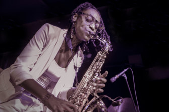 Once Lakecia Benjamin fully tuned in to her Australian band the performance soared to great heights.