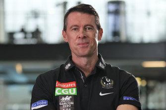 New Collingwood coach Craig McRae has big plans.