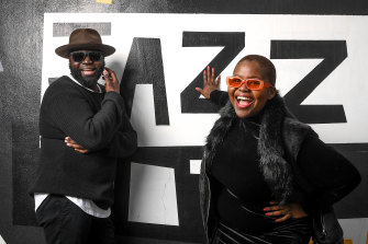 Jazz musicians ZIIMUSIC and Thando.
