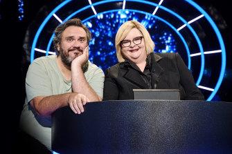 Ben Pobjie with Magda Szubanski on the set of The Weakest Link.