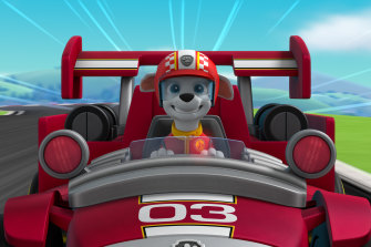 Paw Patrol's Marshall takes the wheel in Ready, Race, Rescue.