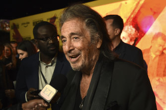 Al Pacino, the star of Amazon Prime Video series Hunters, at the premiere in Los Angeles last week.