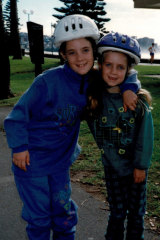 Chloe and Carlie at Manly in 1998.