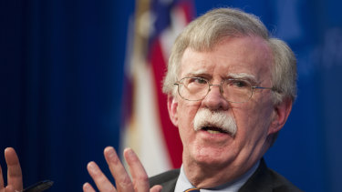 US national security adviser John Bolton.