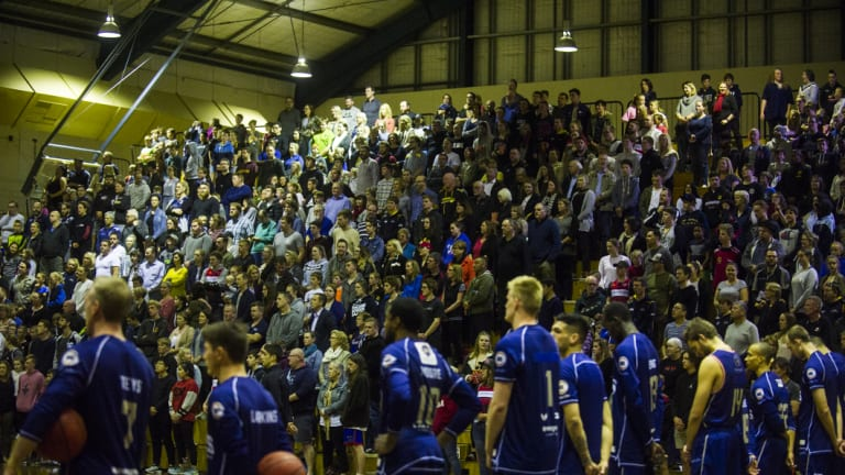 The Hawks played Adelaide in front of a sell-out crowd at Tuggeranong during the pre-season.