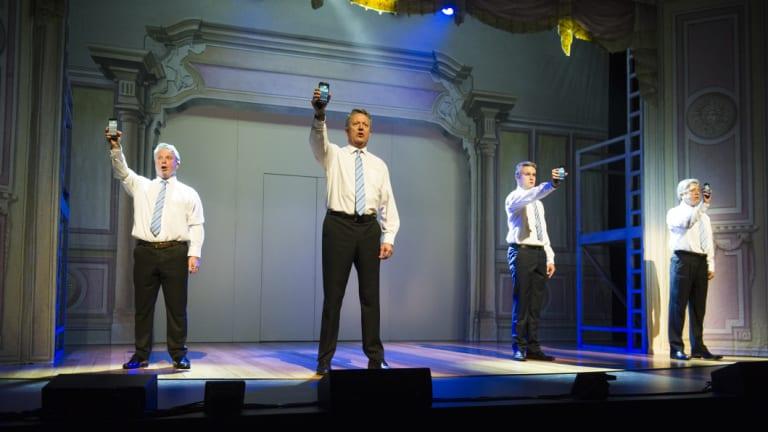 Four Mathias Cormanns  in <i>The Wharf Revue 2018: Deja Revue</i>.