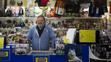Co-owner of Impact Comics, Mal Briggs said he was worried about what would happen to the business when construction started.