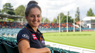 Ellie Brush and the GWS Giants are returning to Manuka Oval.