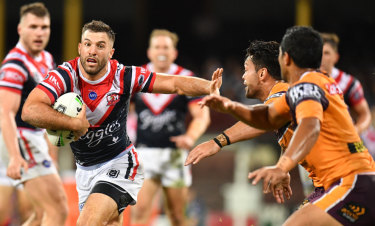 Dangerman: Roosters fullback James Tedesco caused the Broncos plenty of headaches.